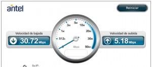 Test de velocidad en internet en Uruguay
