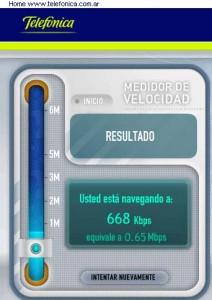 Test de Velocidad de Internet de Speedy Telefónica Argentina